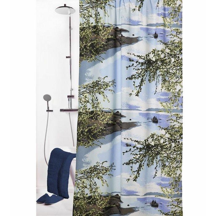 Resim  Melodie 9002 Tek Kanat Duş Perdesi - 180x200 cm