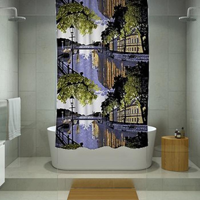 Resim  Melodie 9006 Tek Kanat Duş Perdesi - 180x200 cm