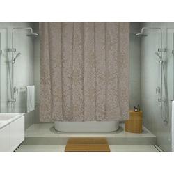 Melodie 9027 Tek Kanat Duş Perdesi (Açık Kahverengi) - 180x180 cm