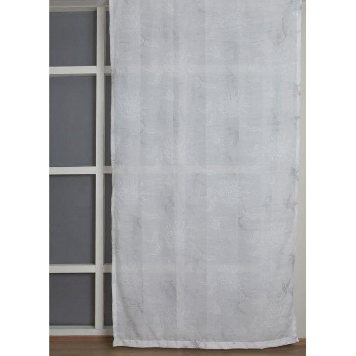 Resim  Premier Home 2104 Simli Tül Perde (Beyaz) - 140x270 cm
