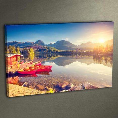 Resim  K Dekorasyon DLC 3006 Ledli Kanvas Tablo - 50x70 cm