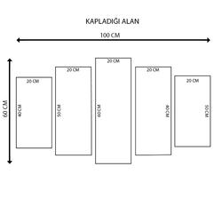 K Dekorasyon KM5P-3204 Mdf Tablo - 5 Parçalı