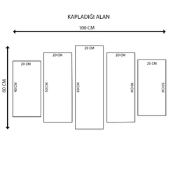 K Dekorasyon KM5P-3212 Mdf Tablo - 5 Parçalı