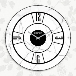 Cadran EVD007 Dekoratif Bombeli Cam Duvar Saati