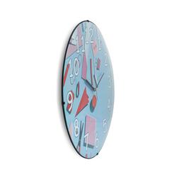 Cadran EVD019 Dekoratif Çocuk Bombeli Cam Duvar Saati - 35x35 cm