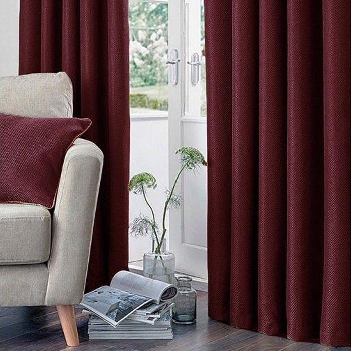 Resim  Premier Home Fon Perde (Kırmızı) - 140x270 cm
