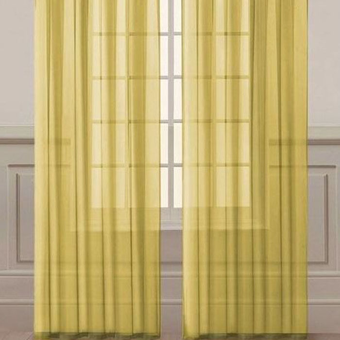 Premier Home Düz Tül Perde (Sarı) - 300x260 cm