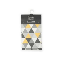 Premier Home Kırlent Kılıfı (Gri / Sarı) - 43x43 cm