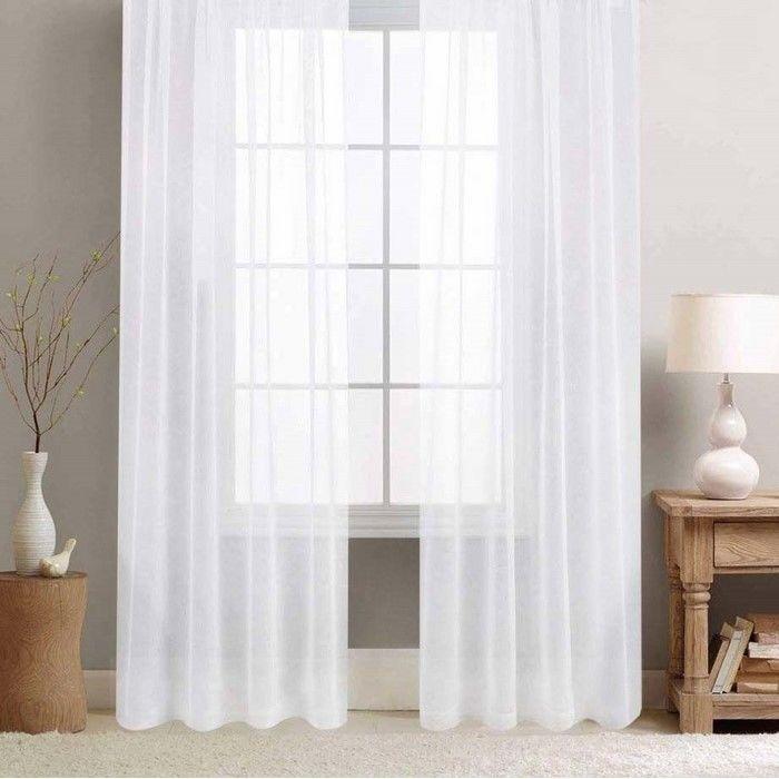 Premier Home Tül Perde (Beyaz) - 250x260 cm