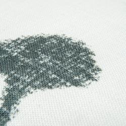 Premier Home Keten Baskılı Kırlent (Beyaz) - 43x43 cm