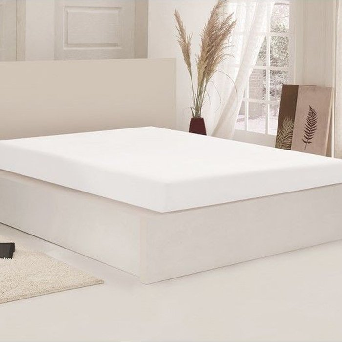 Açelya Penye King Size Çarşaf (Beyaz) - 180x200 cm