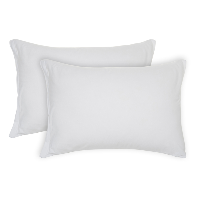 Resim  Açelya 2'li Penye Yastık Kılıfı (Beyaz) - 50x70 cm