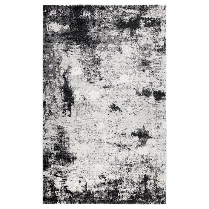 Koza Halı Nazlı 07174A Halı (Beyaz/Siyah) - 120x180 cm