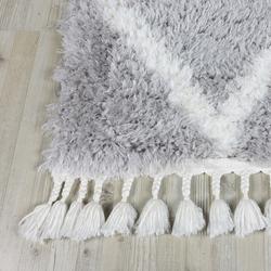 Koza Halı Marakesh 0500E Shaggy Halı (Gri/Beyaz) - 200x290 cm