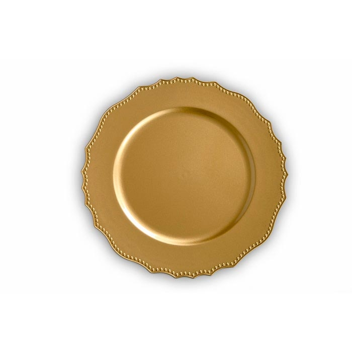 Resim  Kanca Ev 6'lı Dalgalı Mini Top Kabartmalı Supla - Altın