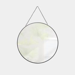 Q-Art Round Ayna (Siyah) - 29 cm