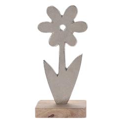 Q-Art Dekoratif Metal Çiçek - Silver