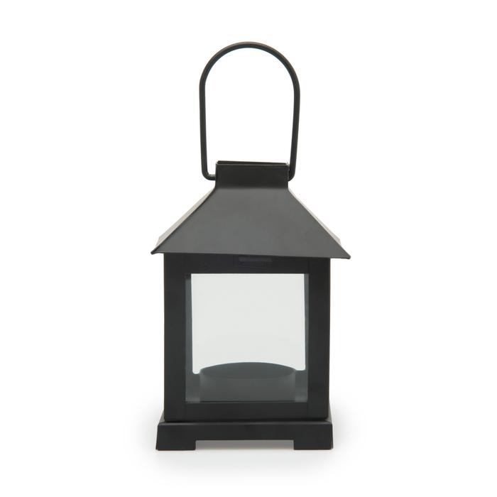 Q-Art Metal Dekoratif Mum Feneri - Siyah