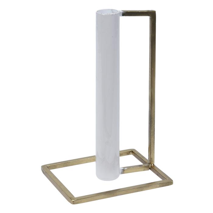 Q-Art Metal Şamdan - Beyaz