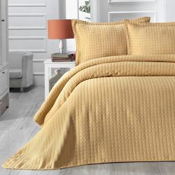 Evim Home Sore Box Tek Kişilik Yatak Örtüsü Takımı - 180x250 cm+1x(60x80) cm - Hardal