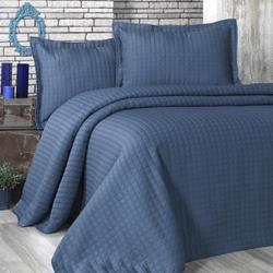 Evim Home Sore Box Tek Kişilik Yatak Örtüsü Takımı - 180x250 cm+1x(60x80) cm - İndigo