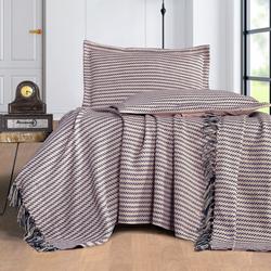 Evim Home Stripe Çift Kişilik Yatak Örtüsü Takımı - Lila