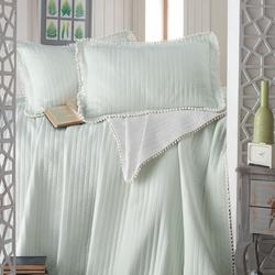 Evim Home Ponponlu Çift Kişilik Yatak Örtüsü Takımı - Mint