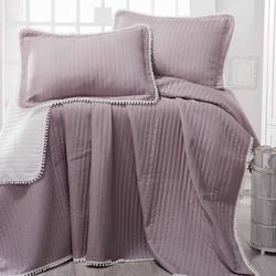Evim Home Ponponlu Çift Kişilik Yatak Örtüsü Takımı - Kum Beji