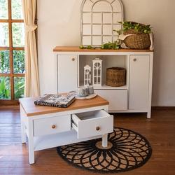 Just Home Noble 2 Kapak Tek Çekmeceli Çok Amaçlı Dolap - Beyaz