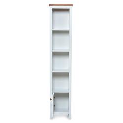 Just Home Noble Tek Kapaklı Kitaplık - Beyaz