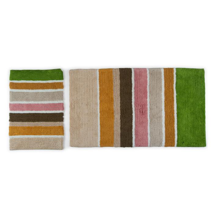Resim  Towello Stripe 2'li Klozet Takımı - Bej