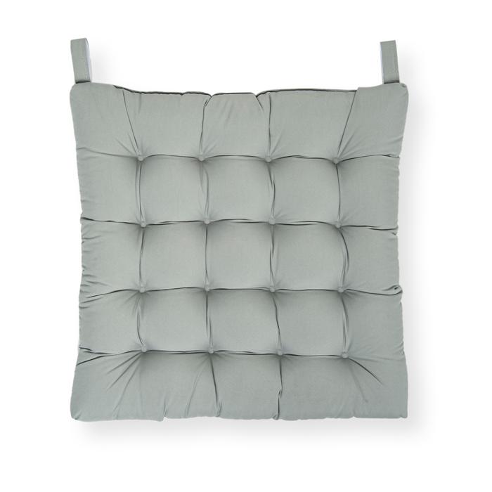Iris Home Sandalye Minderi 50x50 cm - Gri