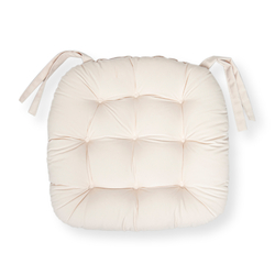Iris Home Sandalye Minderi Oval 43x43 cm - Krem