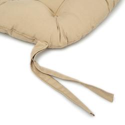 Iris Home Sandalye Minderi Oval 43x43 cm - Camel