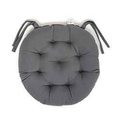 Iris Home Sandalye Minderi Yuvarlak 43 cm - Antrasit