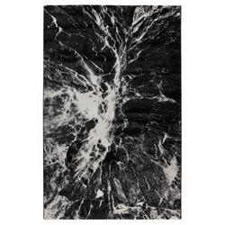 Koza Halı Nazlı 07173A Halı (Siyah/Beyaz) - 80x150 cm
