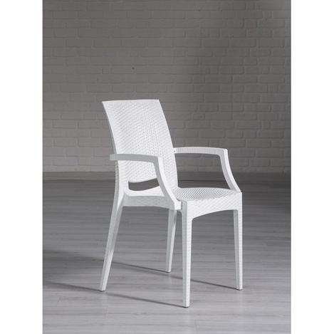 Resim  Mobetto Rattan Lüks Sandalye – Beyaz