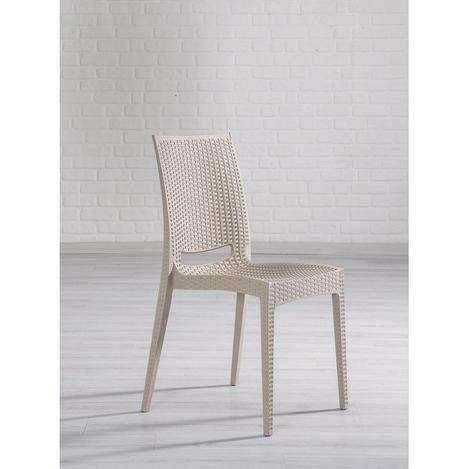 Resim  Mobetto Rattan Bahçe Sandalyesi - Cappucino