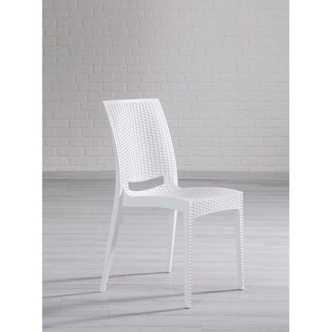Resim  Mobetto Rattan Sandalye – Beyaz