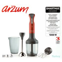 Arzum AR1025 Smartmax Blender Seti - Kırmızı / 1000 Watt