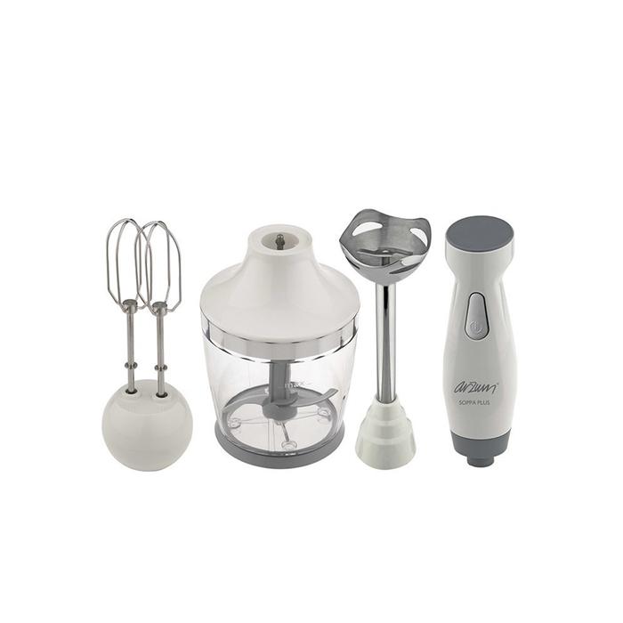 Resim  Arzum AR1011 Soppa Plus Blender Seti - Beyaz / 600 Watt