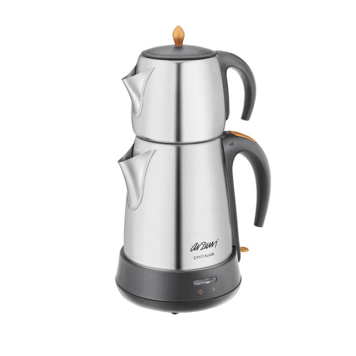 Arzum AR3004 Çaycı Klasik Çay Makinesi - Paslanmaz Çelik / 1,8 lt