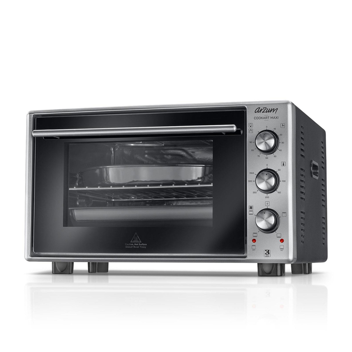 Resim  Arzum AR2002 Cookart Maxi 50 Lt Çift Camlı Fırın - Paslanmaz Çelik