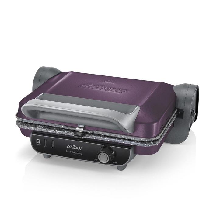 Arzum AR2021 Panini Granite Tost Makinesi - Mürdüm / 1800 Watt
