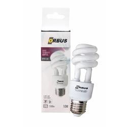 Orbus Burgu Enerji Tasarruflu 10 watt, E27 550 Lm, Ra80 220- 240V/50Hz, 6400K Ampul