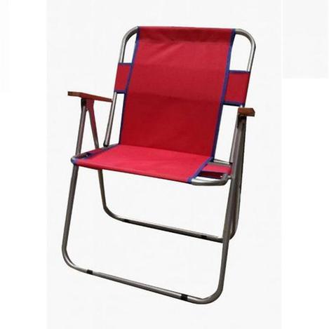 Resim  Just Home Katlanır Bahçe Sandalyesi - Kırmızı