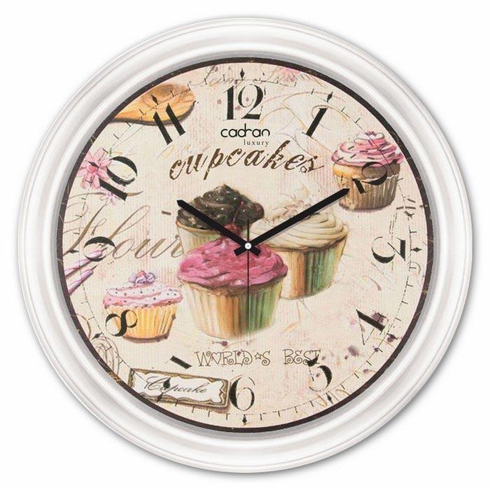 Resim  Cadran Luxury CDX266 Camlı Mutfak Duvar Saati - 35x35 cm