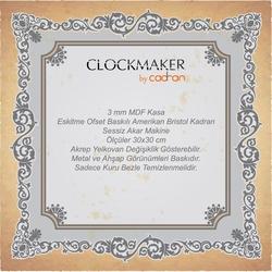 Clockmaker By Cadran CMM134 Mdf Duvar Saati - 30x30 cm