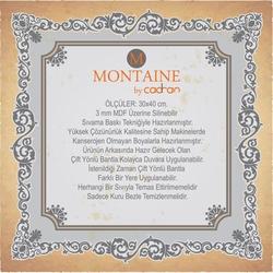 Montaine By Cadran MT70 Mdf Tablo - 30x40 cm