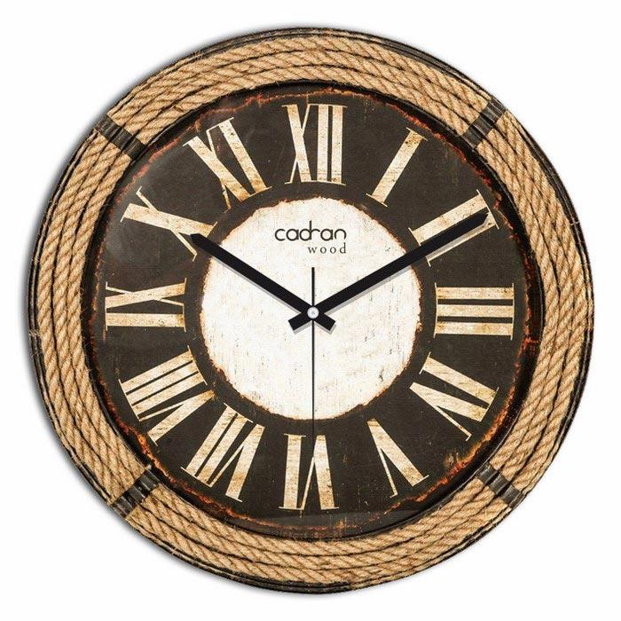 Resim  Cadran Wood CW299 Mdf Duvar Saati - 30x30 cm